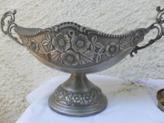 A shell-shaped metal unique baptism basin / holy water container - Greece - 19th century