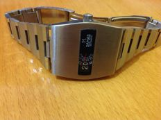 Damas automatic jump hour digital men's watch 1970s