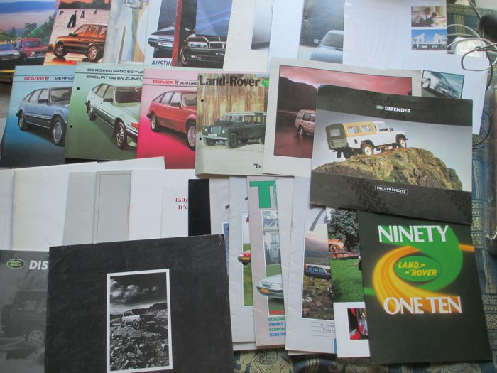 Car brochures (Rover/Land Rover, 31x, 1980-1997)