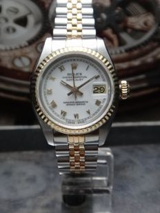 ROLEX OYSTER PERPETUAL DATEJUST 6917 -  18k YG/SS - 1981 - Ladies