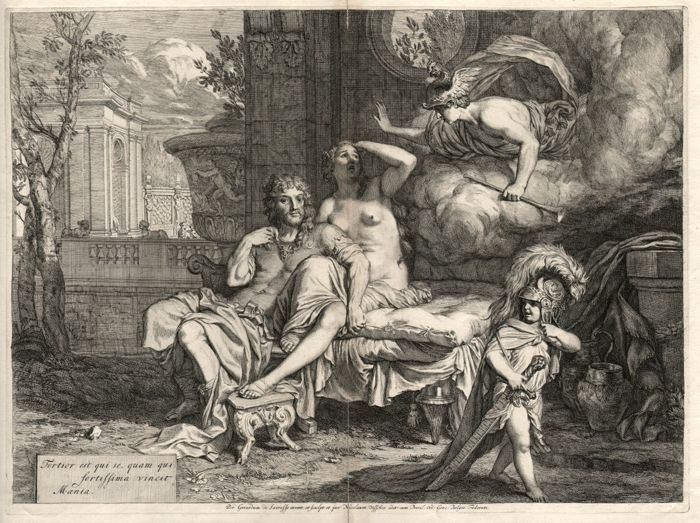 Gerard de Lairesse (1641-1711) - Mercury ordering Calypso to allow Odysseus to depart - Ca 1675