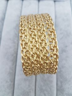 Slave bangle in 18 kt yellow gold from the 1970s by DOMINI, Arezzo - Made in Italy