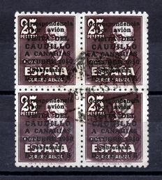 Spain 1951 – Visit of the Caudillo to the Canary Islands, block of 4 – Edifil No. 1090
