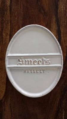 Smeets Hasselt advertisement - in ceramic.
