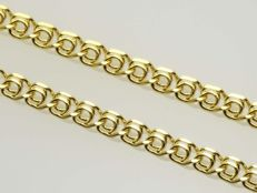 18k Gold Necklace. Chain. Love. Length 50 cm.