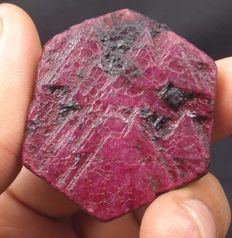 Gorgeous red ruby rough - 43 x 41 x 11 mm - 210.60 cts