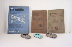 Rover/Morris Minor - Operation & Instruction Manuals - 3 Dinky Toys - 1935/'48