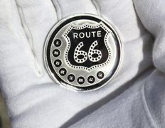 90 years of Route 66 - 1 OZ Silver Coin - Proof Like Finish