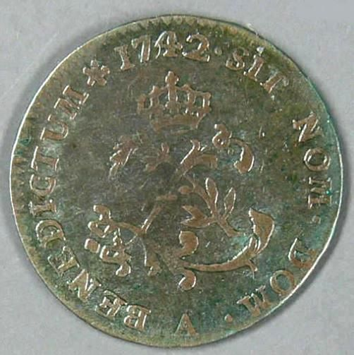 France - Louis XV (1715-1774) - Double sol de billon 1742 A (Paris)