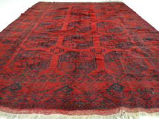 Afghan - Afghanistan - 277 x 210 cm - authentic, Persian, two-tone carpet in 100% wool - second half last century