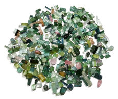 Lot of Multi Colour Tourmaline Crystals -  50gm - 250ct