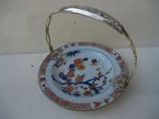 Bowl with silver frame - China - 18th century