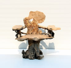 Garden Chair made of centuries-old olive tree