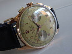 Alben chronograph Suisse 18 kt 750 rose vintage men´s chronograph, 1940s/60s Revised