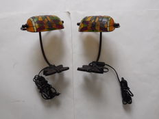 Two table/desk lamps with dragonflies - Tiffany style - 2nd half of 20th century