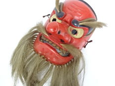 Sarutahiko mask - Japan - Mid 20th century