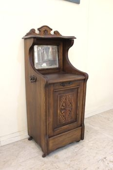 Mahogany coal store cabinet in Victorian style - ca. 1900