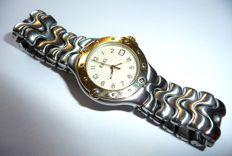 "Ebel women's wristwatch ""Sportwave"" steel/gold with satinised steel strap with folding clasp."