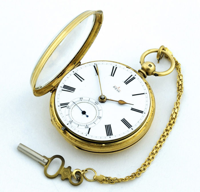 English pocket watch for men, lepine, Half Fusee. London, 1875.