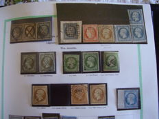 France 1849/1959 - Double collection, new/used with some specialisations.