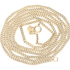 18 kt Yellow gold curb link necklace – Length: 57 cm
