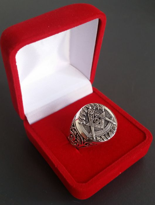 Masonic silver 925 ring. 22mm