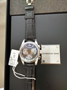 Chopard Chrono One watch in 18kt white gold, COSC certified, Limited Edition( 100 pcs Worldwide)
