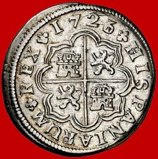 Spain – Felipe V (1700 - 1746) – 1 silver real – Madrid – 1726/1 A