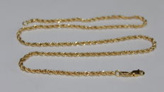 Unisex 18 kt/750 gold necklace - Braided