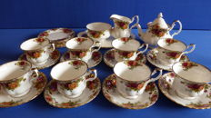 Royal Albert Old Country Roses coffee set.