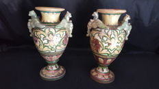 Pair of amphorae signed A. Rubboli, Gualdo
