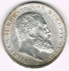 German Empire, Württemberg - 3 Mark 1910 F - silver