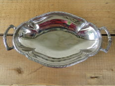 Silver plated dish in art deco style - Orfevrerie Ercuis, France, ca 1920 - 1930