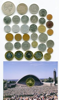 Latvia, Lithuania, Estonia - 35 Various Coins (incl. silver ones)