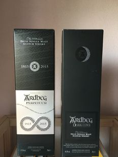 2 bottles - Ardbeg Perpetuum and Ardbeg Dark Cove