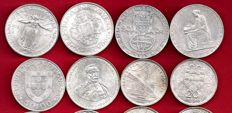 Portugal — Lot of 12 commemorative silver coins — Years 1953, 1966, 1968, 1969 and 1972