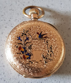 20. Switzerland – decorative pocket watch – enamel design – circa 1880