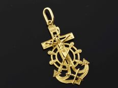 Cross in 18 kt gold Height: 35 mm