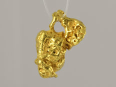 Natural Gold Nugget - 14.9 x 9.5 x 7.7 mm - 19.98 ct • No reserve price •