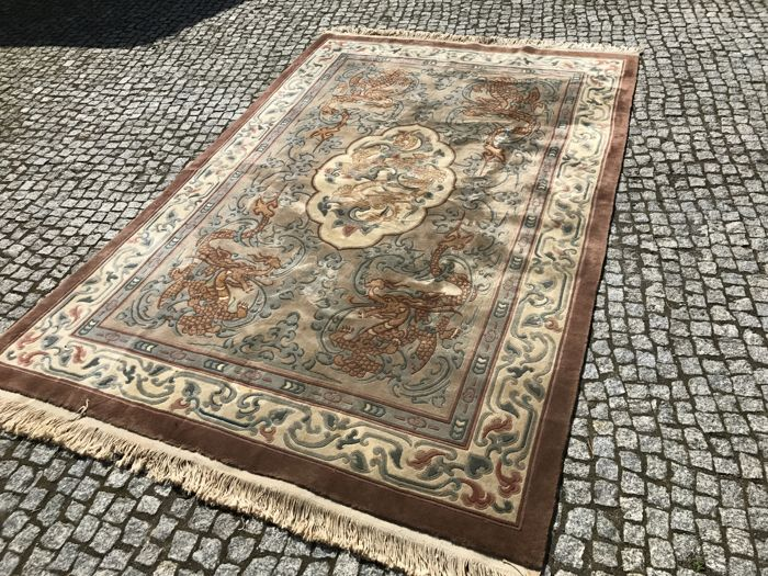 Unique Original Orient China Rug hand knotted 300x185 cm TOP QUALITY