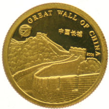 "Mongolia – 1000 Tugrik 2008 ""Great Wall of China"" – 1 g gold"