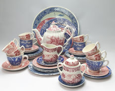 2e half 20th century. 41 pieces China: Ironstone, Myott, Boch, Meakin, Barratts, Wedgwood, Wood's etc.