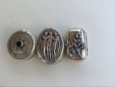 Three mint or pill boxes. Second half 20th century. Spain, Mexico.