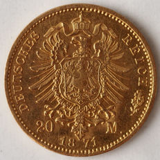 Germany (Prussia) – 20 Mark 1871 A – Wilhelm II – gold