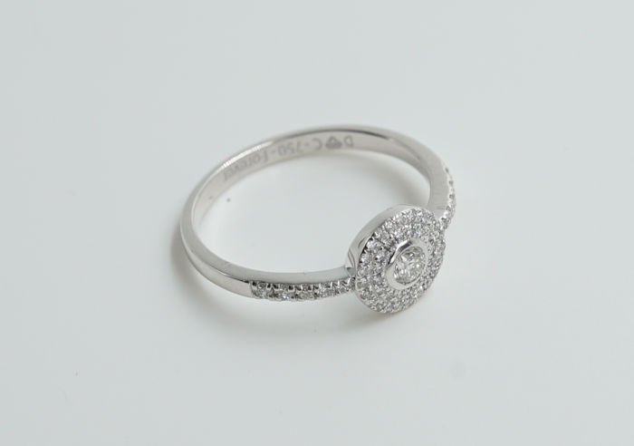 Diamond Ring Solitair with Natural Loose Diamonds  0,602 ct / VS / F- Withe Gold 18 K
