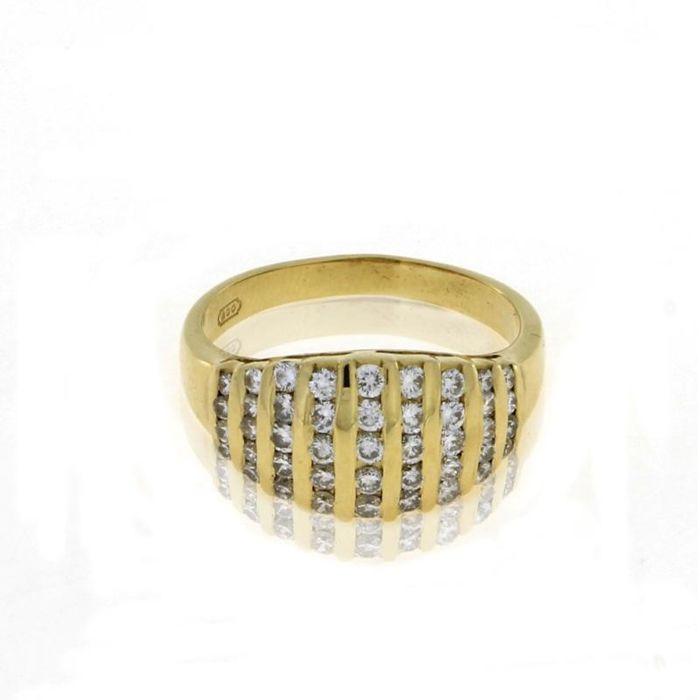 Diamonds Ring in Gold 19.2kt - 0.43ct - Size 15