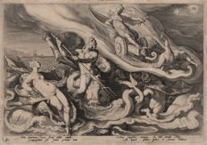 Hendrick Goltzius (1558-1617) - Oceanus, Thetis and Juno - First state - 1589