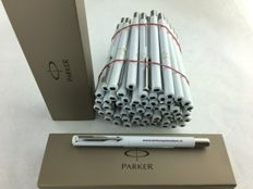 60 pieces, Parker Vector White fountain pen with print + 60 Parker boxes.