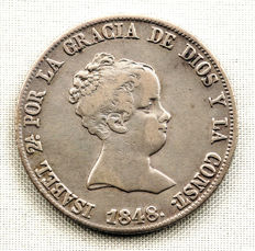 Spain – Isabel II – 4 Reales, silver –1848 – Madrid