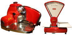 Berkel 834 slicer & Berkel scale type E - restored - Red